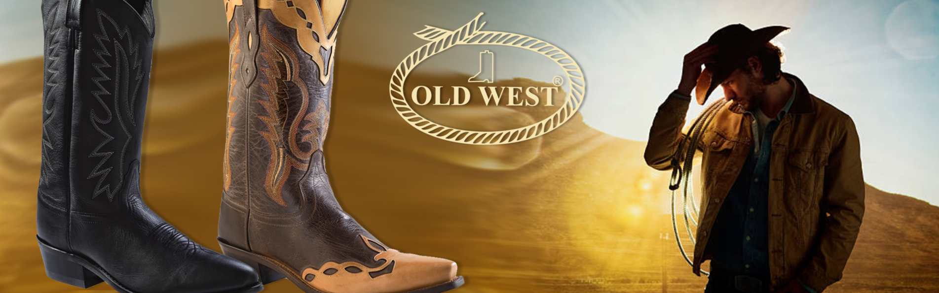 OLD-WEST-western-laarzen-|-Heren