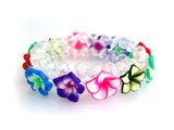 Armband fimo bloem - multicolor_