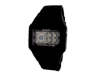 Sport digitaal horloge - zwart